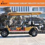 Großverkauf 4+2 Seaters elektrische Golf-Karre, goldene Karren-Karosserie, starkes 6 Passagier-elektrisches Auto mit hinterem Seater verwendet im Bauernhof