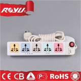 cordon de prolonge plat de courant électrique du pouvoir 220V pour la maison