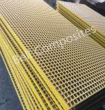 Prfv passarela, Painel Non-Slip anticorrosão, chiadeira de fibra de vidro, Glassfiber gradeamento.