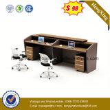 Офисная мебель меламина Mahogany таблицы счетчика приема цвета деревянная (HX-5N077)