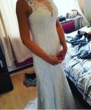 غلاف/عمود [سليفلسّ] يشبع طول يلائم زفافيّ عرس ثوب 2017