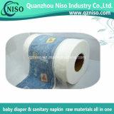 Plein film stratifié hydrophobe de PE pour les matières premières de couche-culotte de bébé de produits de hygiène