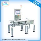 Cadena de producción pesos que controlan la máquina
