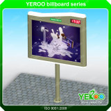 Outdoor Street Stainless Steel Scrolling Billboard com relógio LED