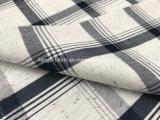 Tela Check-Lz8258 del hilado del círculo de la fibra del color del algodón