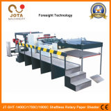 La haute technologie 2/4/6 Shaftless dérouleur de bâches de papier rotatif de la machine Machine transversal