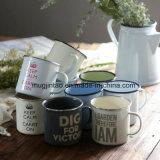 대중적인 선물 사기질 찻잔, 야영 찻잔, 커피 잔, Enamelware Oemlogo 8oz 10oz 12oz