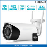 2017 Nuevo 4MP cámara IP inalámbrica resistente al agua para uso en interior y exterior