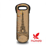 Bouteille Neoprene Wine / Water Bottle Tote Animal Print