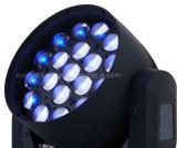 19X10W RGBW 4in1 LED 급상승 세척 이동하는 헤드