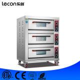 Commerciële Multifunctionele 3 Dekken 3 Oven van de Pizza van Dienbladen de Elektrische