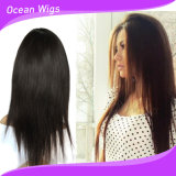 Mayor de la manera del estilo el 100% del cordón del pelo humano peluca delantera brasileña