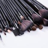 Деревянные рукоятки Natual черного цвета волос щетки 32ПК макияж щетки установленные на заводе