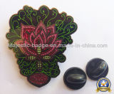단단한 사기질 반짝임 접어젖힌 옷깃 Pin (MJ-PIN-047)