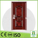 Puerta exterior moderna del metal de las buenas puertas baratas del hierro
