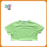 T-shirt de blanc de coton peigné par usure de sport avec la taille d'Exlarge