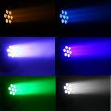 Nueva mini LED luz principal móvil de los productos 7PCS 12W RGBW