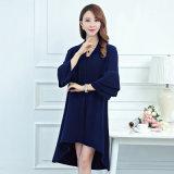 Cardigan di inverno del manicotto dell'increspatura della signora Fashion Mink Cashmere Knitted (YKY2067)