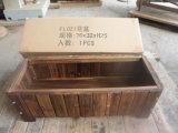 점화된 삼목 목제 장방형 안뜰 정원 재배자 침대 상자