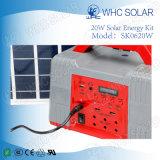 Utilisation à la maison et à l'extérieur Kit d'énergie solaire 20W avec panneau solaire