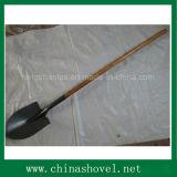 Cabeça de pá com pá de palha com cabo de madeira de primeira categoria