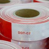 Rotes und weißes reflektierendes Band mit PUNKT C2-Bescheinigung