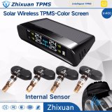 TPMS drahtloser Sonnenenergie-Gummireifen-Reifen-Druck-Monitor-Systems-Farben-Bildschirm-interne Fühler