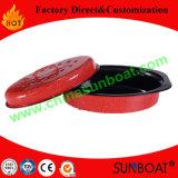 Tostador oval de acero al carbono pintado a color antiadherente con estante