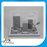 Schwarzer Acrylschmucksache-Ausstellungsstand