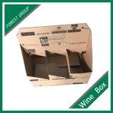 Aceptar la caja de embalaje de encargo de Brown de cartón con los divisores