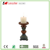 Покрашенный рукой держатель для свечи Polyresin для крытого и напольного украшения