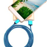 Trenzado Nylon 5 pines Micro USB Data Cable cargador para Samsung