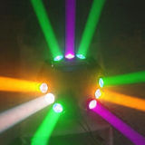 DMX 9X10W ИНДИКАТОР ДАЛЬНЕГО СВЕТА крестовина перемещение головки UFO лампа