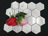 Tuile de marbre blanche de mur de mosaïque de Carrare de belle mosaïque neuve