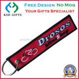 Kundenspezifischer Schlüsselring, Gewebe Keyholder, Stickerei-Schlüsselringe Wholesale