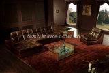 Sofá moderno do couro da parte superior da mobília (SBO-3935)