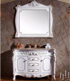 백색 페인트 단단한 나무 방수 목욕탕 허영 내각 (GSP14-007)