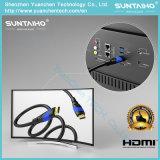HDMI de alta velocidad adelgazan el cable (ETHERNET, HDMI 2.0, 1080P HD LLENO, 4K ULTRA HD, 3D, ARCO, la CCE)