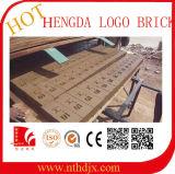 自動煉瓦機械または粘土の煉瓦機械か固体ロゴの煉瓦作成機械