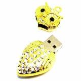 Disco creativo dei regali U degli accessori del USB reso personale disco di cristallo della collana di diamante del gufo U