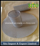 Filtre perforé de cylindre de maille d'acier inoxydable/filtre de cartouche