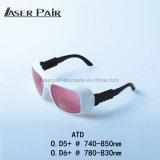Schutz-Hersteller Fachmann-Laser-Eyewear für Laser-Haar-Abbau-Schönheits-Maschine der Laserdiode-Maschinen-808nm