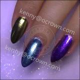 Brillan y brillan cromado espejo Camaleón pigmento lentejuelas Nail Art