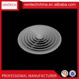 Do difusor decorativo do teto do condicionamento de ar tampa redonda de alumínio do respiradouro do difusor do teto