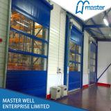 PVC圧延のドアまたは倉庫PVC圧延のドアの鉄骨フレームが付いている高速ローラーシャッター