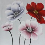 Peinture à l'huile fabriquée à la main se développante de la fleur 100% pour la décoration à la maison