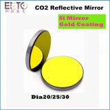 De Spiegel van de Laser van Co2 met het Materiaal van Si en Goud die 20/25/30 Dia met een laag bedekken