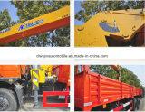 Shacmanの貨物自動車トラックによって取付けられる6tまっすぐなアームクレーントラック