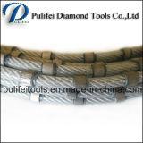 Le fil en pierre de diamant de grès de granit de marbre de découpage de carrière a vu
