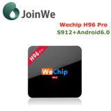 Wechip H96 직업적인 고정되는 최고 상자 Amlogic S912 2g 16g 인조 인간 7.1 텔레비젼 상자
